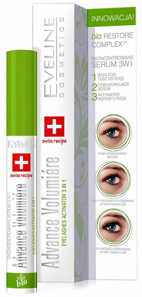 EVELINE 3 IN 1 ADVANCE VOLUMIERE LASH GROWTH & CONDITIONER | eBay