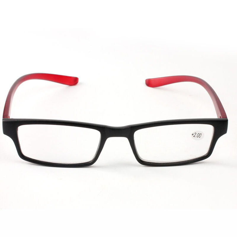 unisex mens womens rubber reading glasses strength 1 00