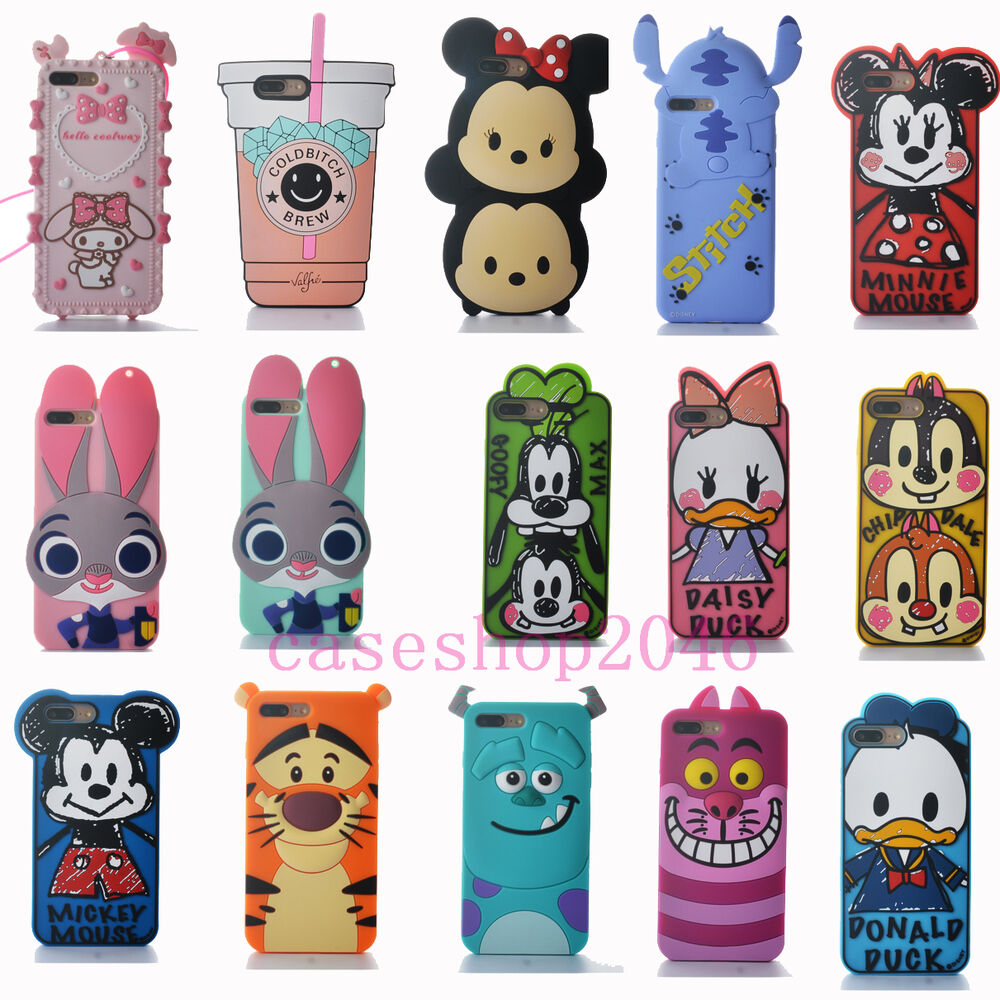 Cartoon Cute Disney Stitch Minnie mickey soft Case Cover ...