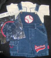 BOYS OVERALL Short SleevedBLUE OUTFIT WITH HAT 18-24 MONTHS by BELUGA