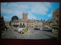 POSTCARD GLOUCESTERSHIRE STOW ON THE WOLD - THE SQUARE