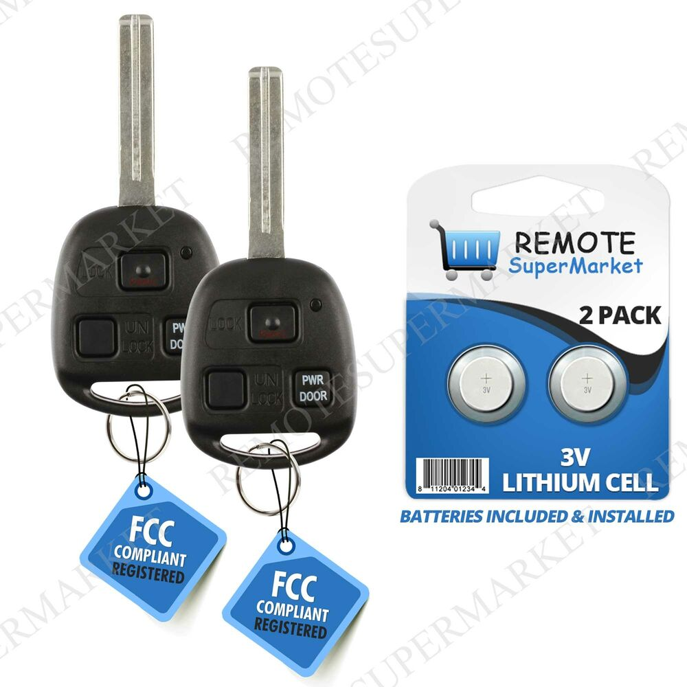 2 Replacement For Lexus 2006 2007 2008 Rx400h Remote Car