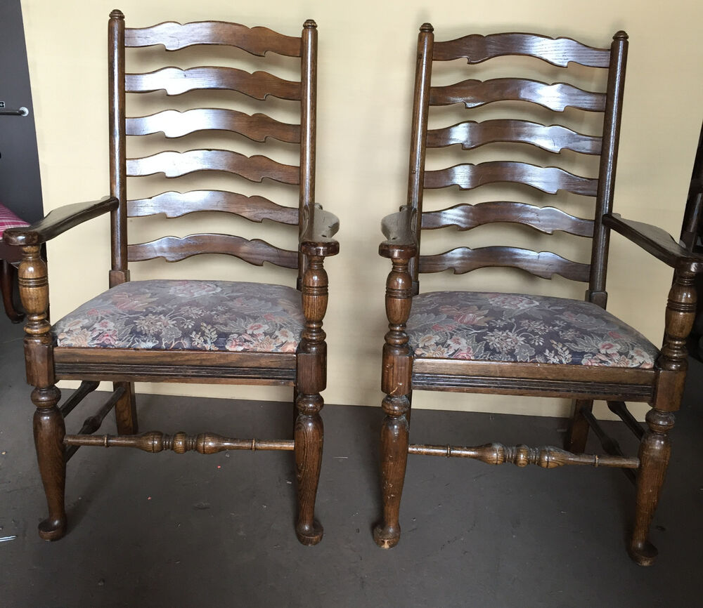 ONE+ (to 22) ETHAN ALLEN ROYAL CHARTER WOOD ANTIQUE ARM