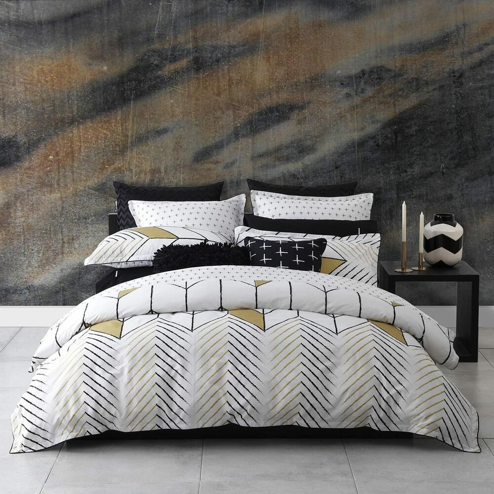 Logan And Mason Rio Gold King Size Bed Doona Duvet Quilt