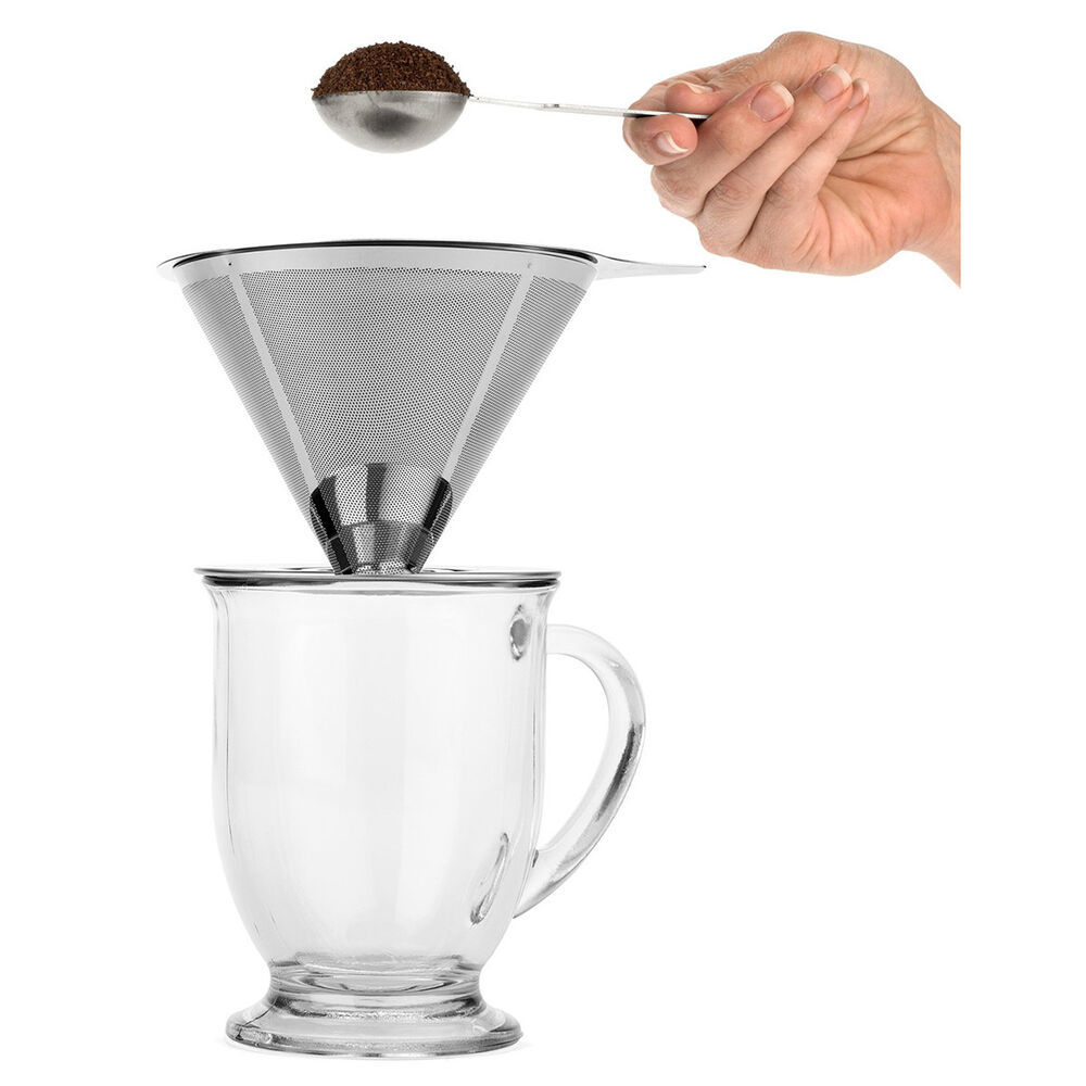 Pour Over Coffee Maker Stainless Steel : Brewologist Pour Over Stainless Steel Coffee Dripper Pour Over Cone Coffee maker eBay