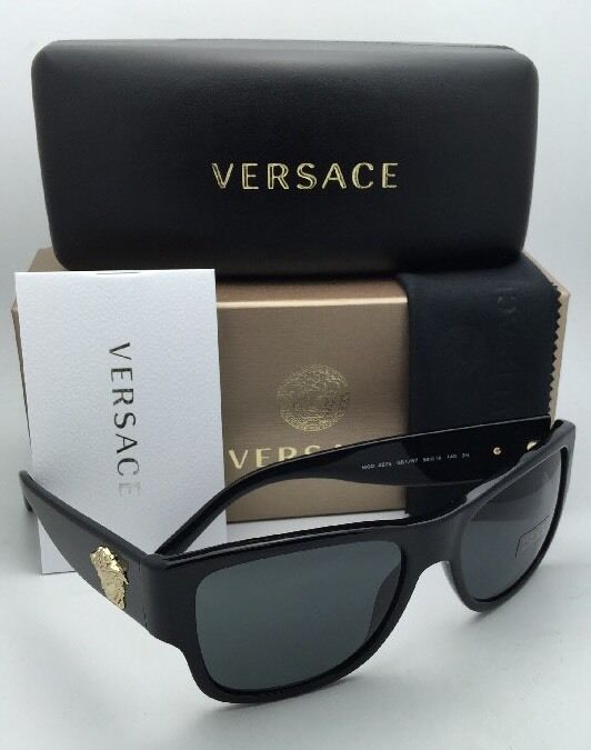 Versace Sunglasses Gold Frame : New VERSACE Sunglasses VE 4275 GB1/87 58-18 140 Black ...