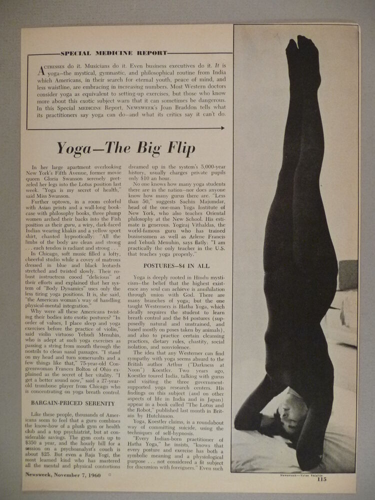 yoga articles from magazines