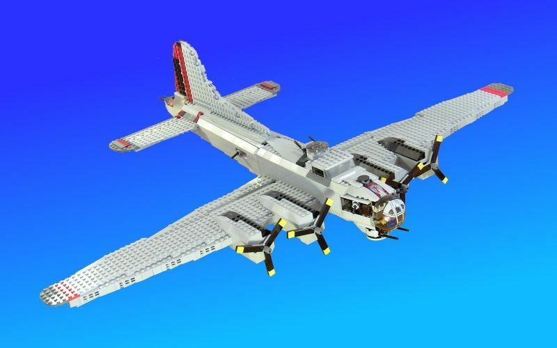 how to make a lego b 17