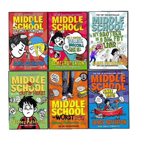 James Patterson Middle School 6 Books Collection Pack Set