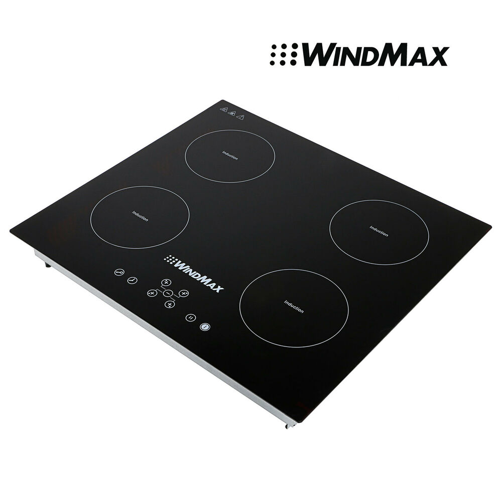 23 inch counter top induction hob 4 zone stove black glass. Black Bedroom Furniture Sets. Home Design Ideas