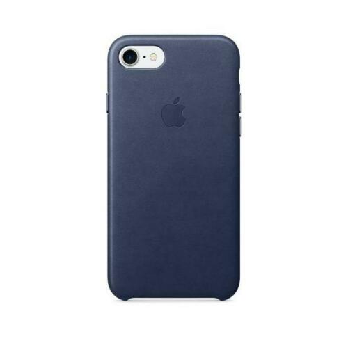 Apple IPhone 7 Leather Case Mid Blue Mmy32zm A Custodia Cover Iphone