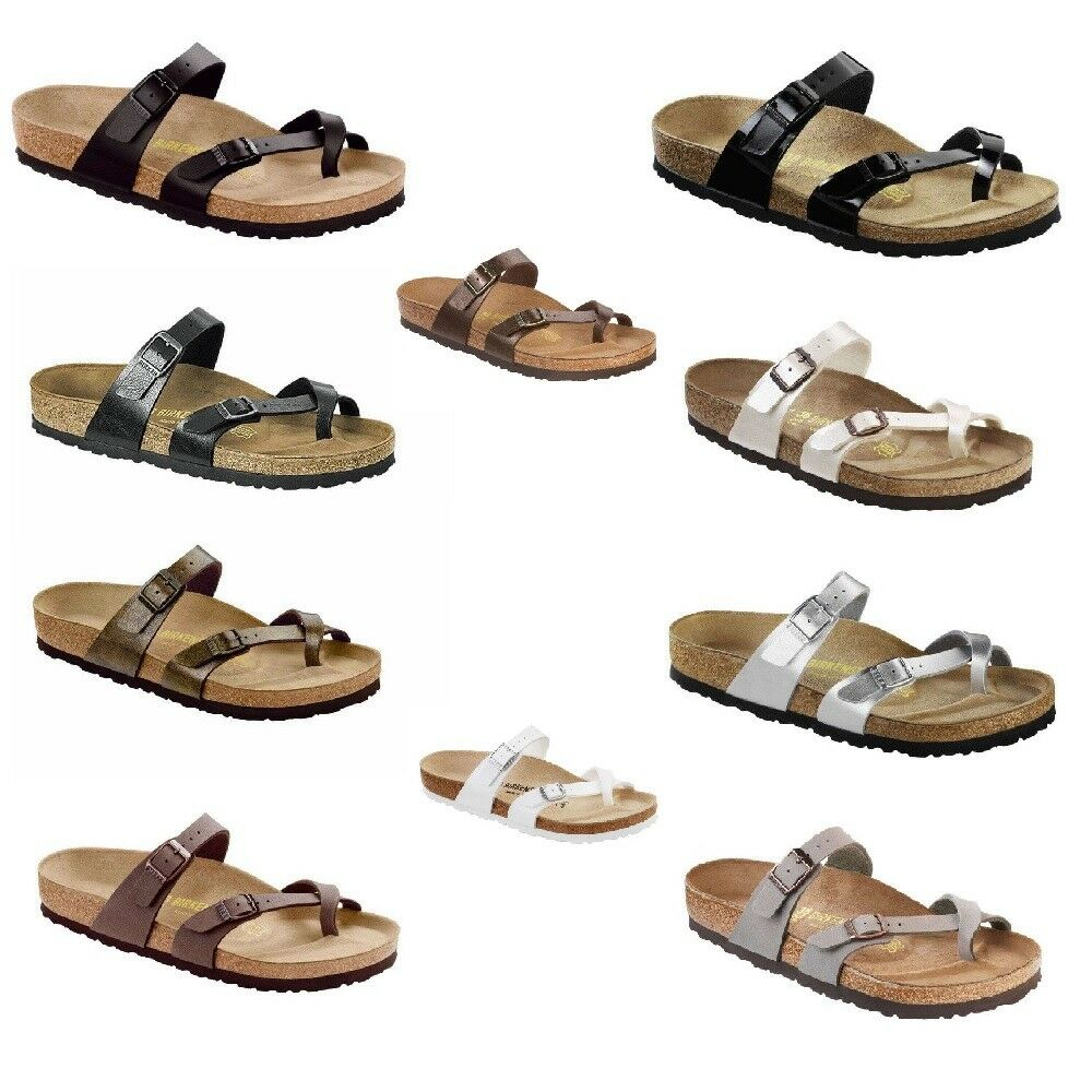 af45e1d4df3b0 Birkenstock Mayari Womens Mens Thongs Slides Sandals Birko-Flor Leather  Shoes