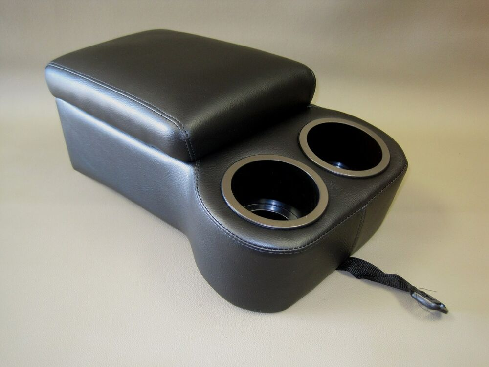 Madrid Black Seat Console With Flip Up Armrest And Cup