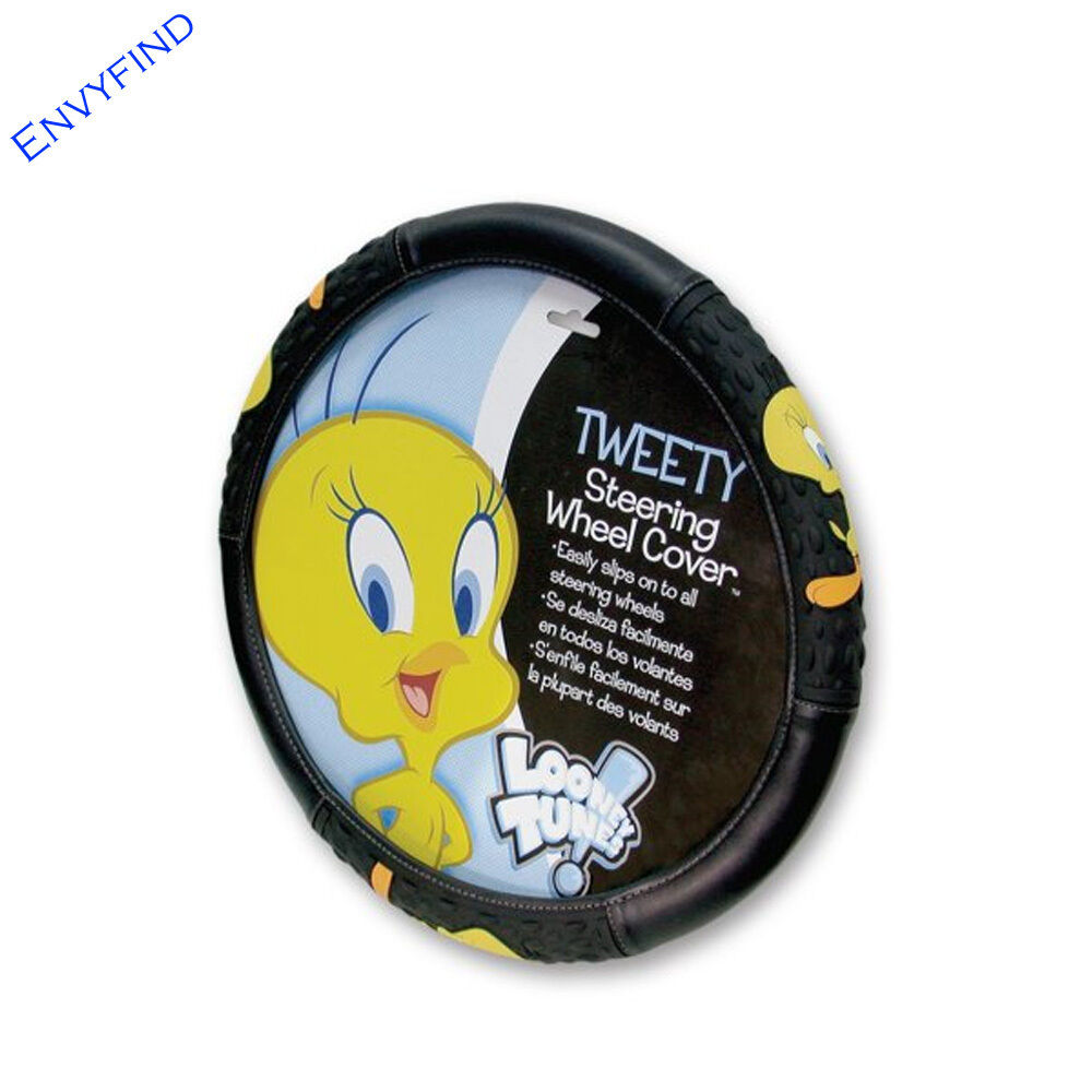 new looney tunes classic tweety bird attitude car truck suv steering wheel cover ebay. Black Bedroom Furniture Sets. Home Design Ideas