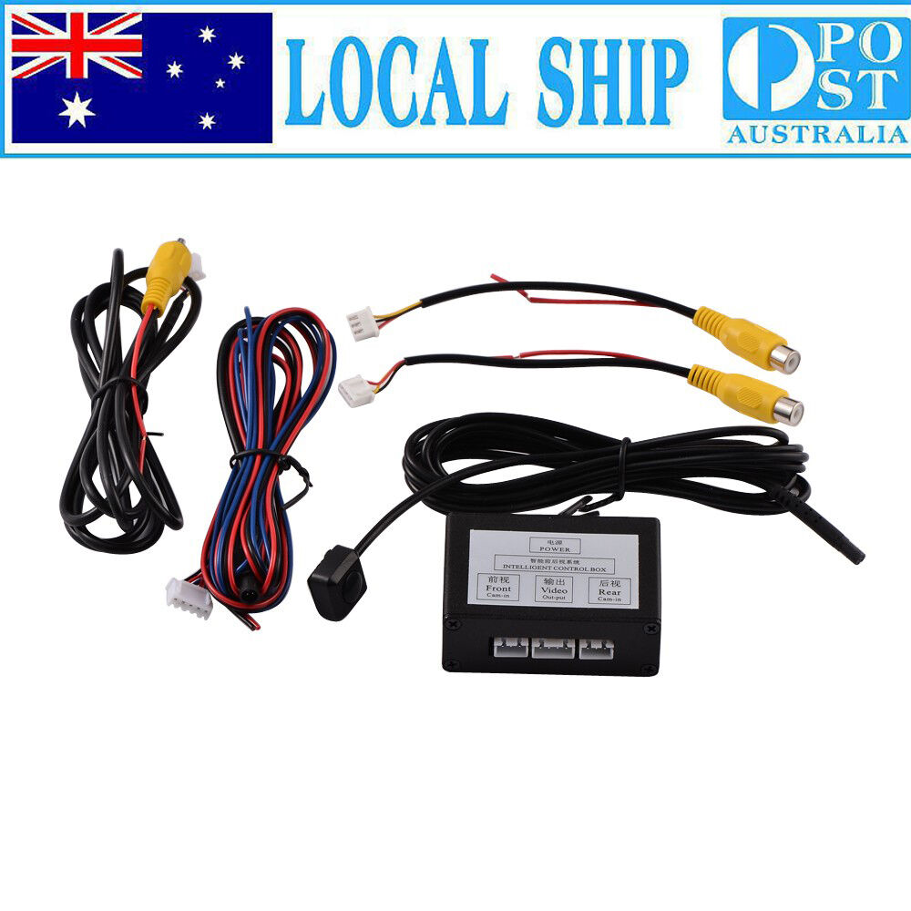 1x Car Front Reverse Parking Camera Video Switch 2 Channel Control Wipercar Wiring Diagram Box Converter 608442344357 Ebay