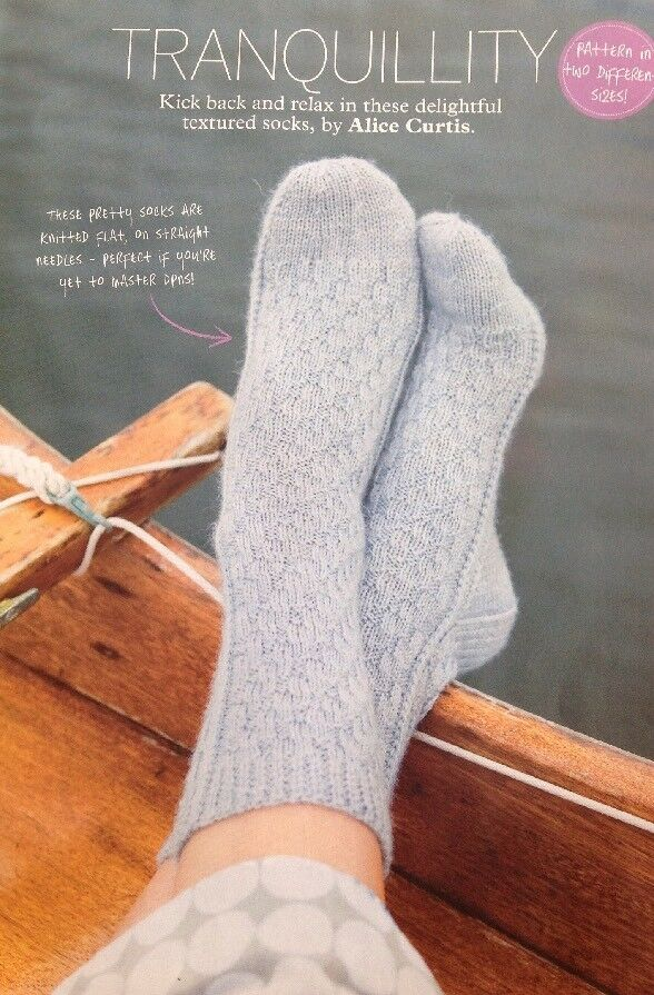 Knitted Ankle Socks Patterns Free : Knitting Pattern for Ladys Ankle Socks. eBay