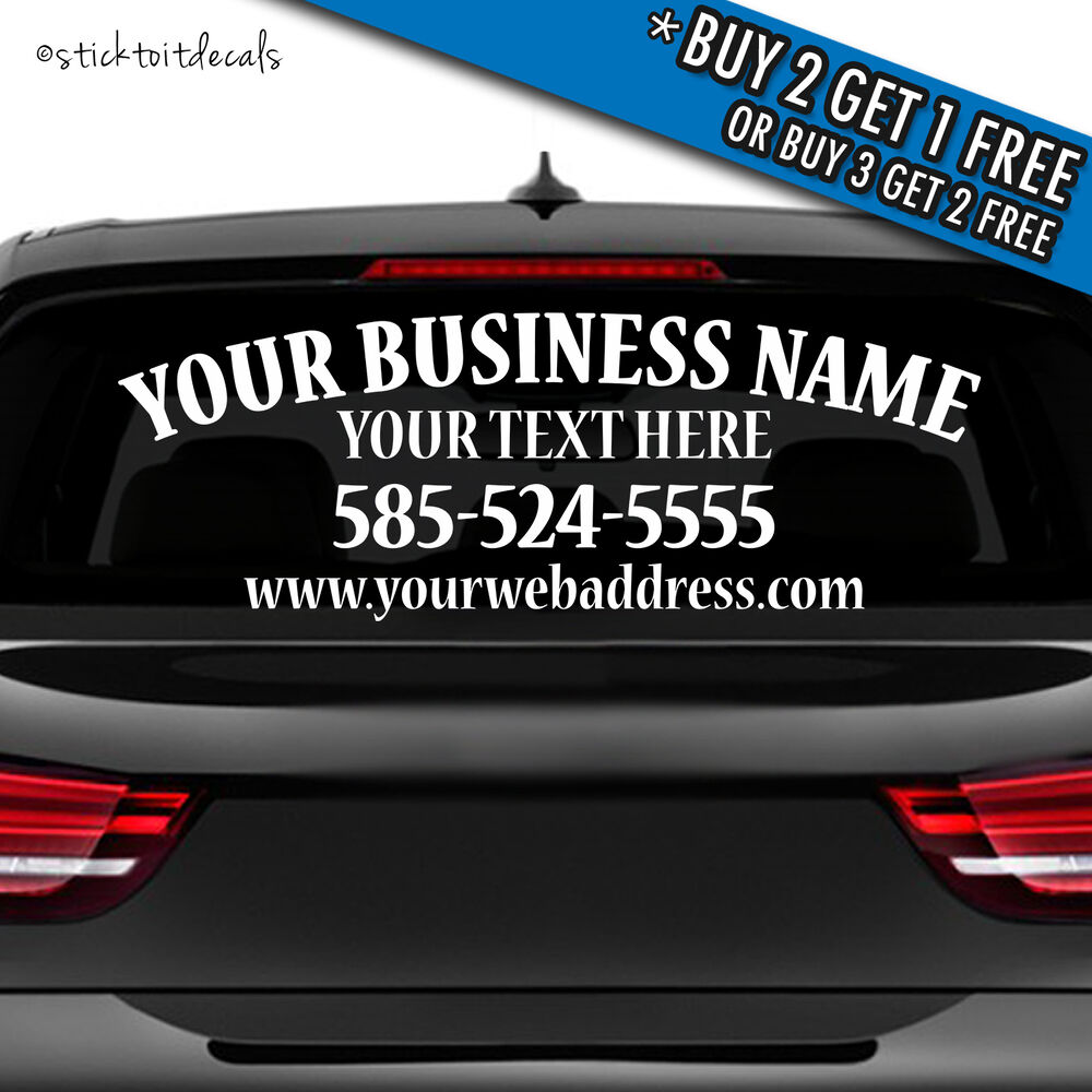 Personalized Business Decal Custom Vinyl Graphic Bumper