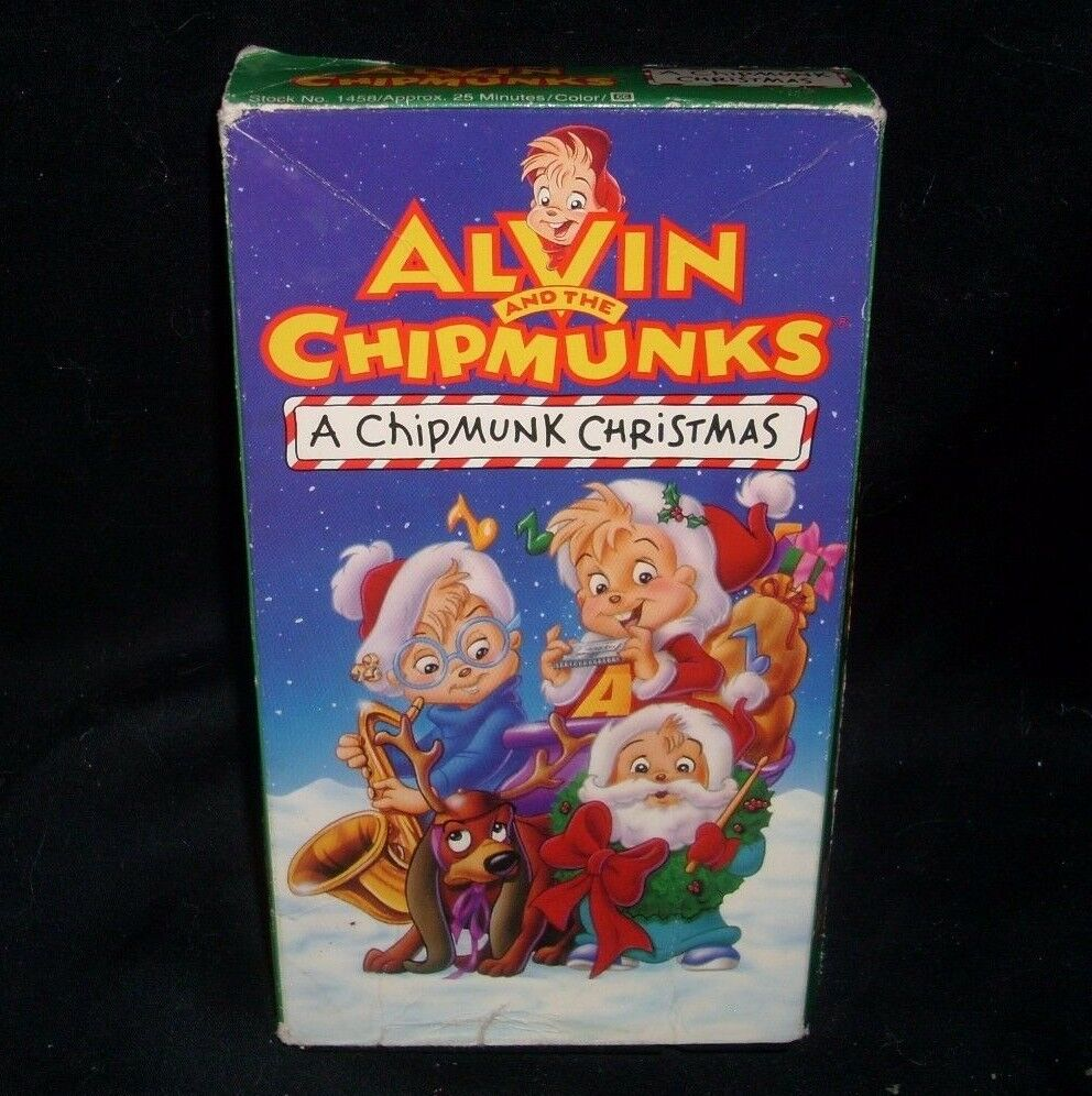 VINTAGE ALVIN & THE CHIPMUNKS CHRISTMAS KIDS MOVIE TAPE 25 MINUTES ...