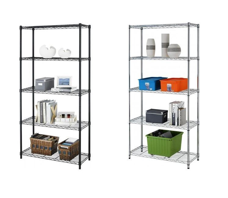 metal storage shelves 5 tier heavy duty shelves adjustable steel wire metal 23296