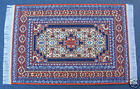1:12 Scale Small Woven Turkish Rug Dolls House Miniature Carpet Accessory P5