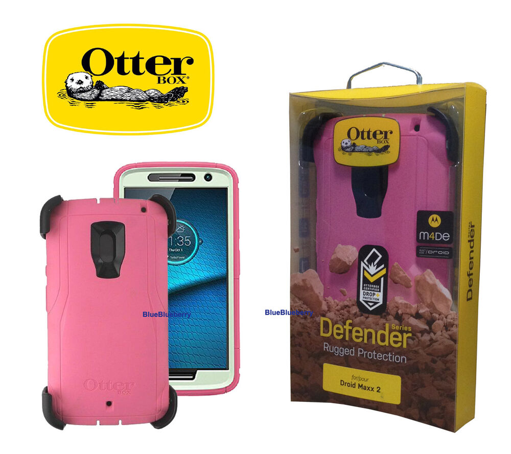 HTC phone case for htc droid dna : ... Authentic Otterbox Defender Series Case For Droid Maxx 2 Pink : eBay