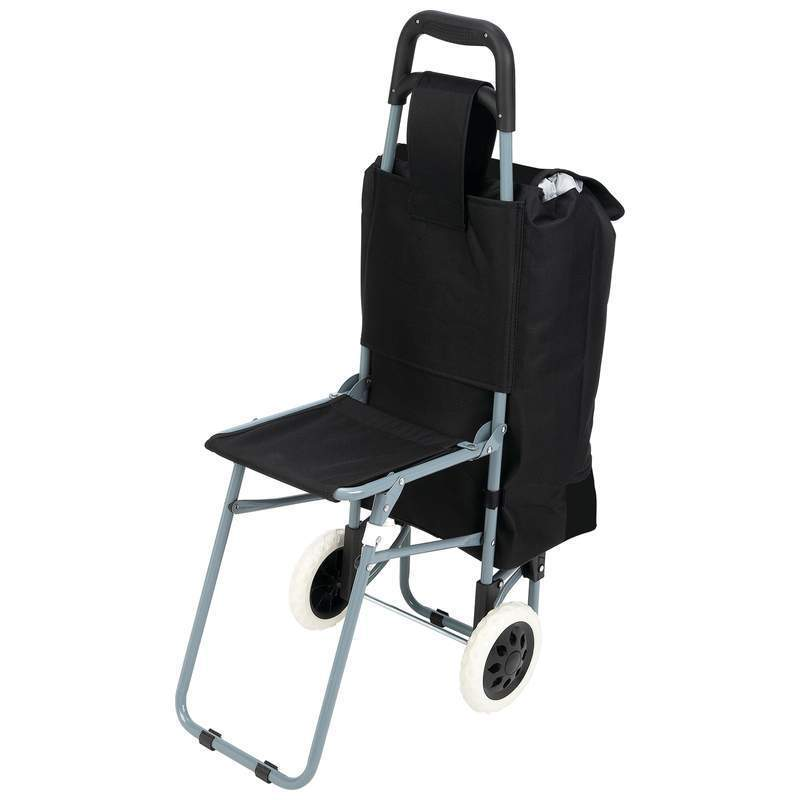 Model Of Maxam Trolley Bag with Folding Chair Rolling Seat Portable Black Sports Fishing Lovely - Awesome folding camping chairs in a bag Photo