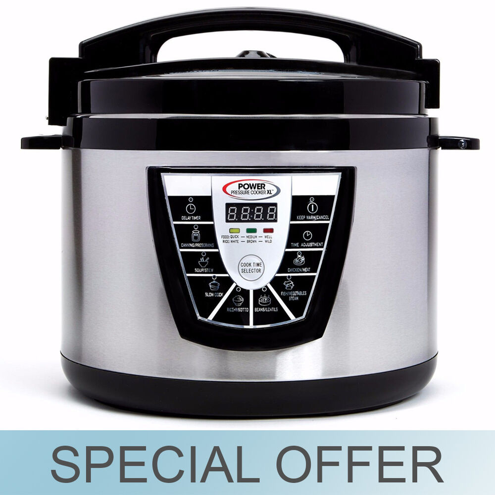 Power Cooker Electric ~ Qt electric power pressure cooker xl w slow
