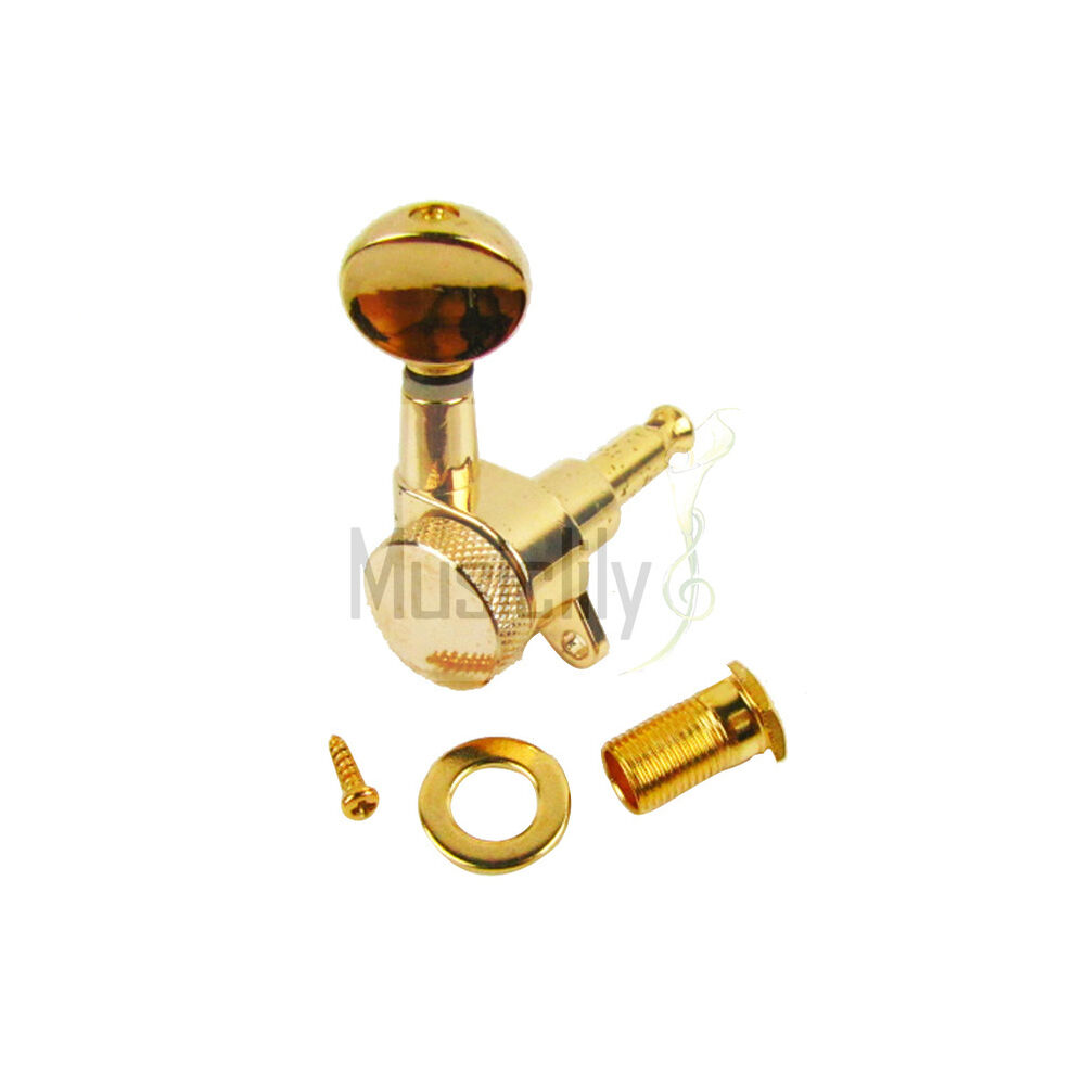 gold 3l3r electric guitar string locking tuners tuning pegs keys machine heads ebay. Black Bedroom Furniture Sets. Home Design Ideas