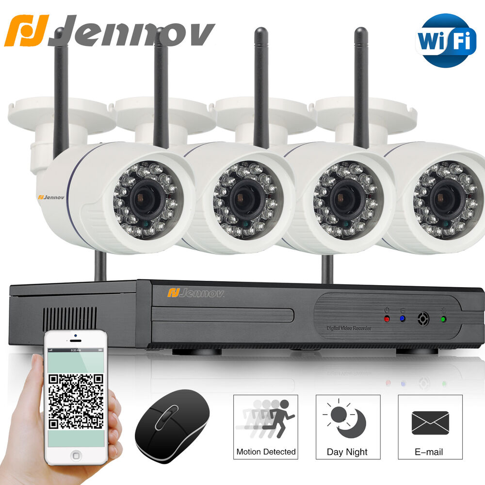 jennov 720p home wireless security system outdoor ir night vision wifi ip camera ebay. Black Bedroom Furniture Sets. Home Design Ideas