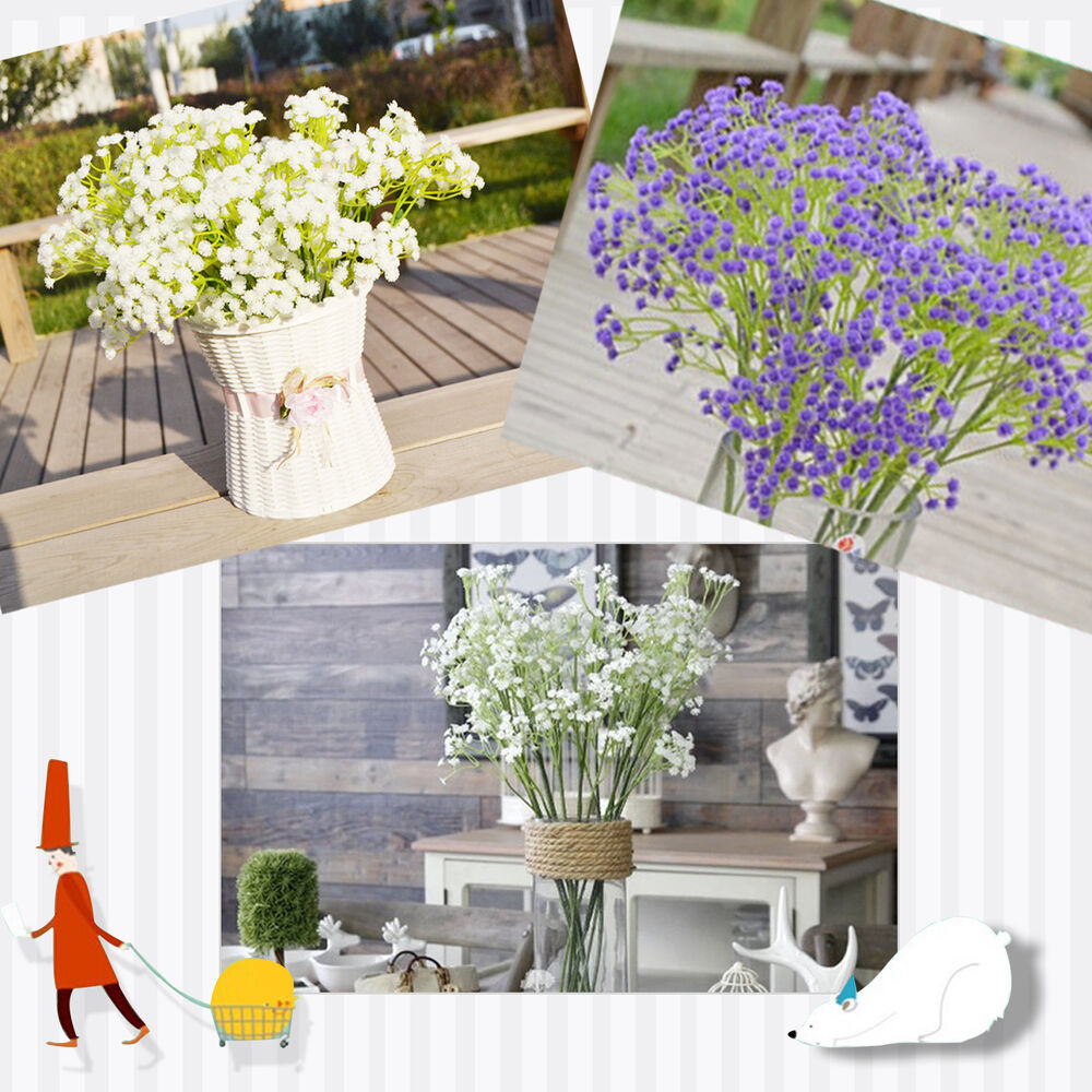 Artificial Faux Gypsophila Baby's Breath Flower Plant Home