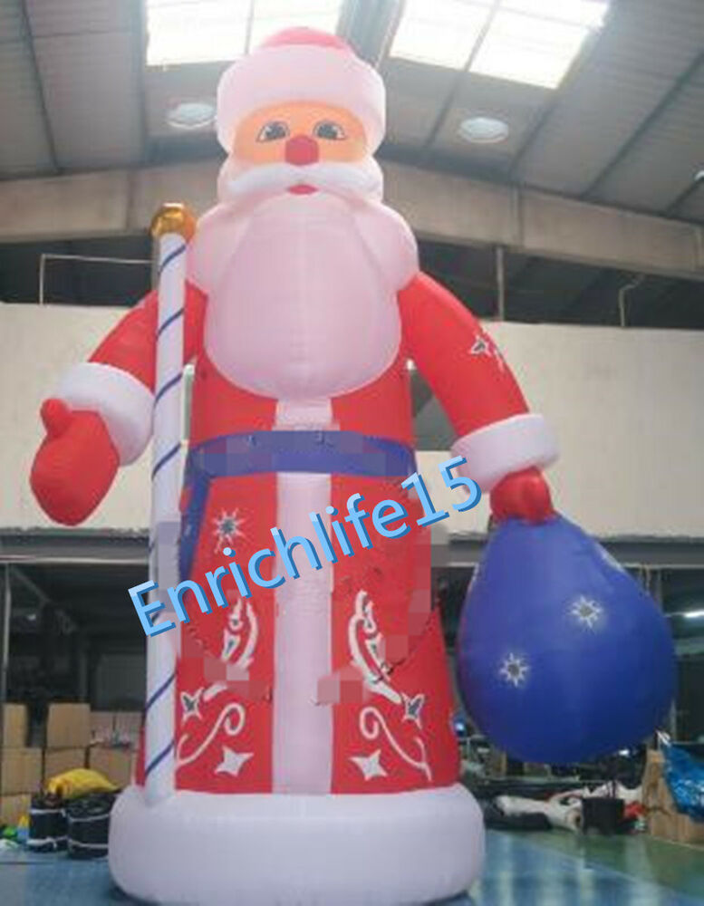 Blower For Inflatable Decorations : M high inflatable christmas santa claus decoration for