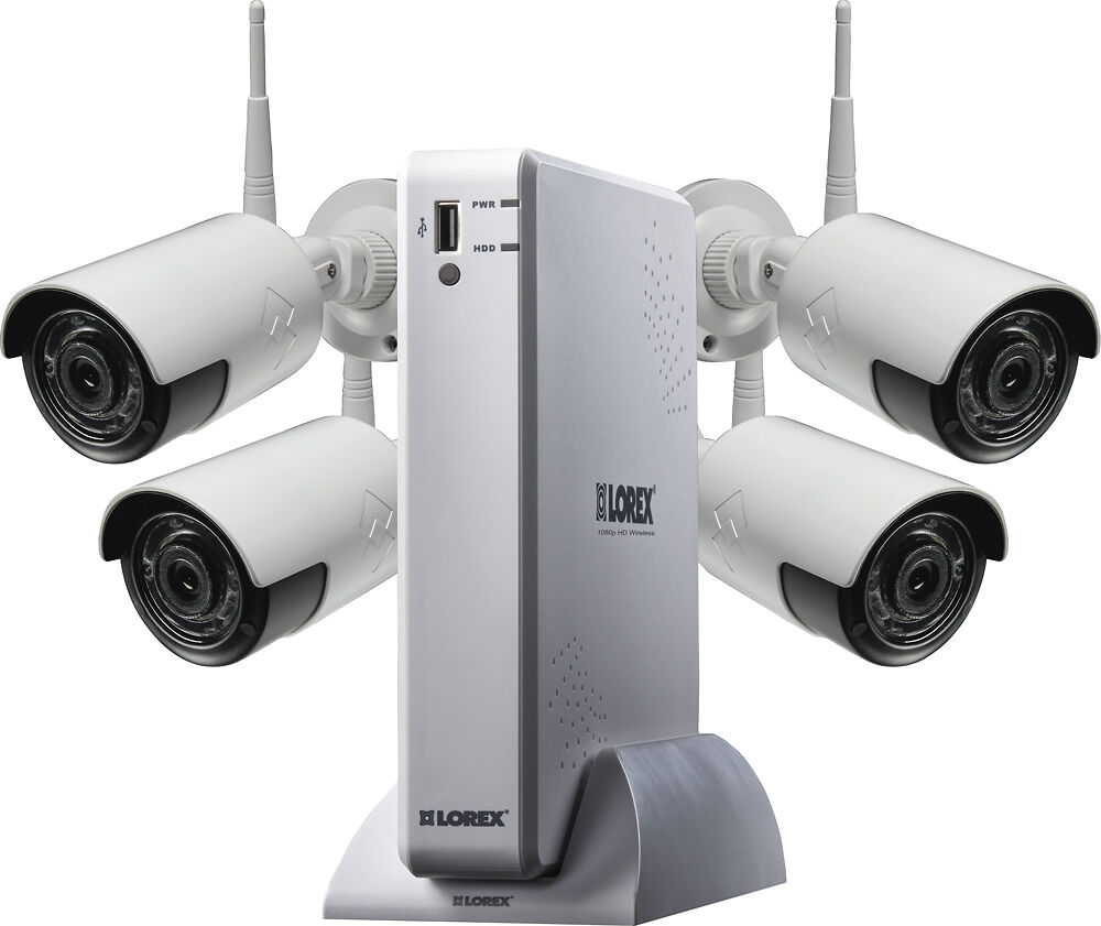 Lorex 4 channel 4 camera outdoor wireless 1080p 1tb dvr - Best wireless exterior security camera ...