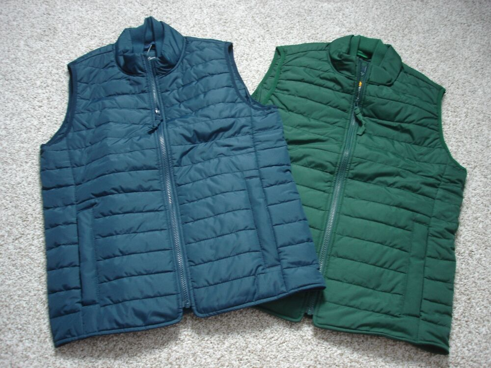 J Crew Mens Puffer Puffy Quilted Thinsulate Vest Coat