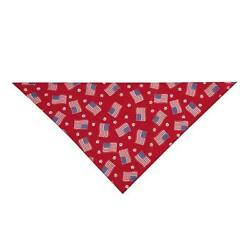 PAWS N' STRIPES FOREVER - Flags Paws - Dog Cat 19'' Square ARIA Bandana NEW