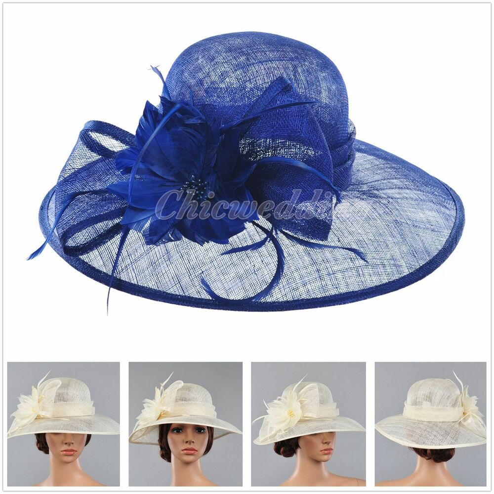 Vintage kentucky derby church hat sinamay wide brim for Dress hats for weddings