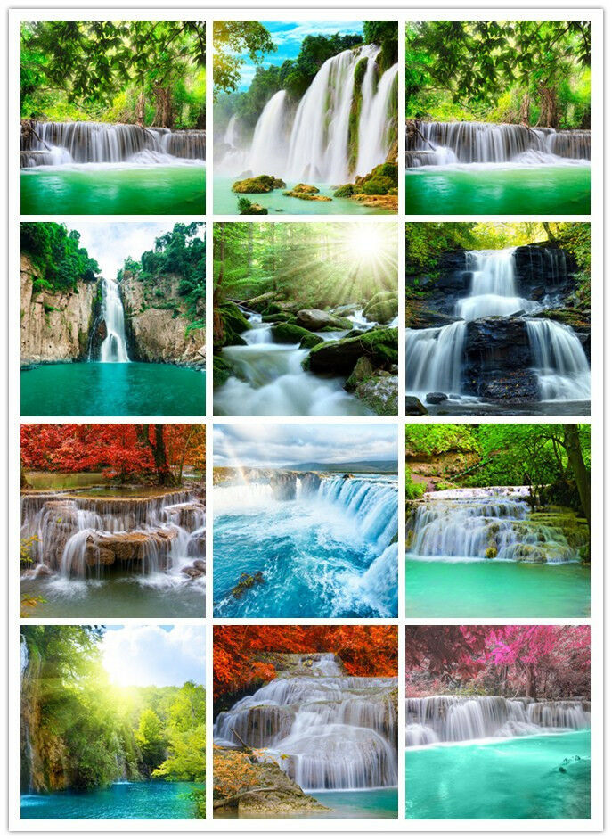 pre pasted waterfalls scenic photo wallpaper murals home