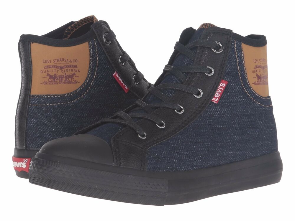 Levis Sneakers Boys Shoes Leviu0026#39;s Hamilton Denim High Top Sneakers Grade School | eBay