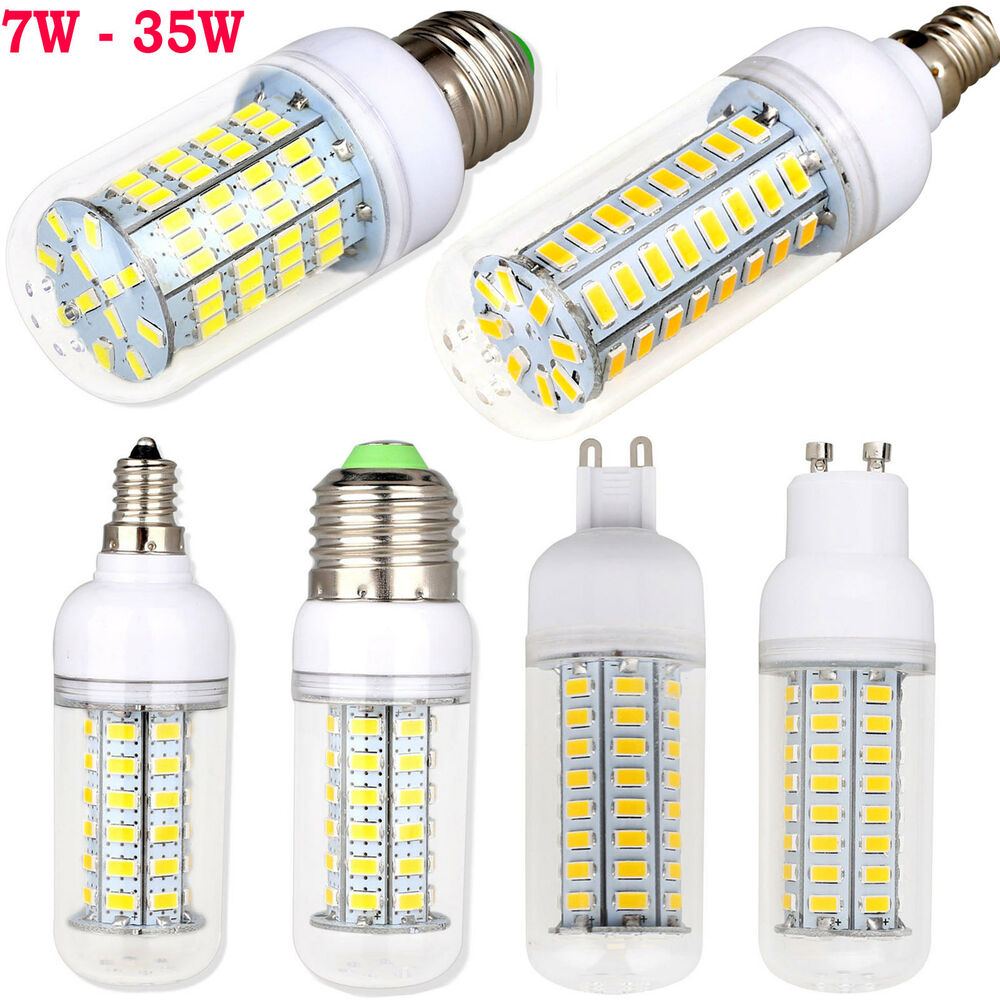 7w 35w dimmable e26 e12 e27 e14 g9 gu10 led corn bulb 5730smd light lamp bright ebay. Black Bedroom Furniture Sets. Home Design Ideas