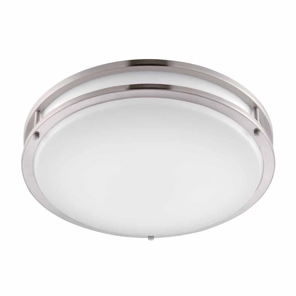 Led Home Lighting Fixtures: Brushed Nickel LED Round Overhead Ceiling Kitchen Light