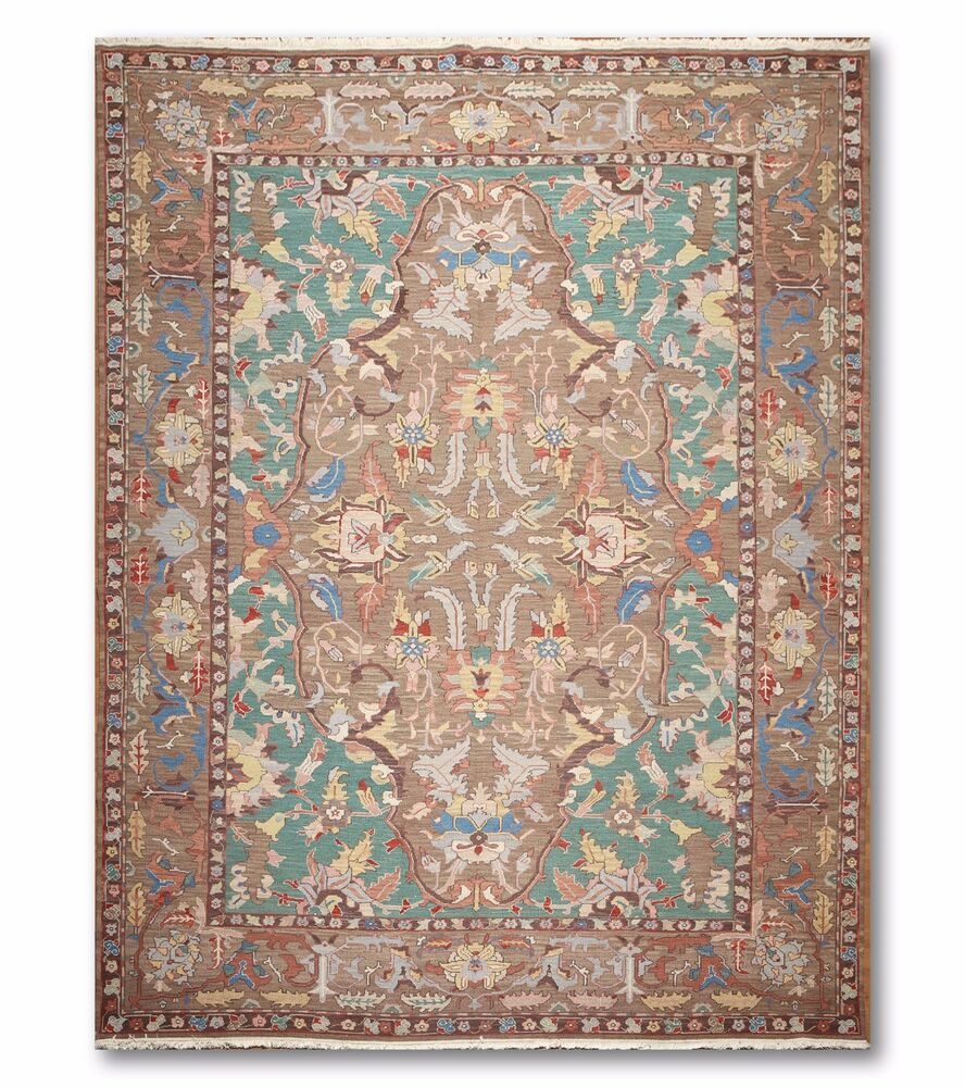 Shop Persian Oriental New Zealand Wool Area Rug: 9' X 12' Nourison Nourmak Hand Knotted 100% Wool Persian