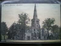 POSTCARD BEDFORD ST PAULS CHURCH BEDFORDSHIRE