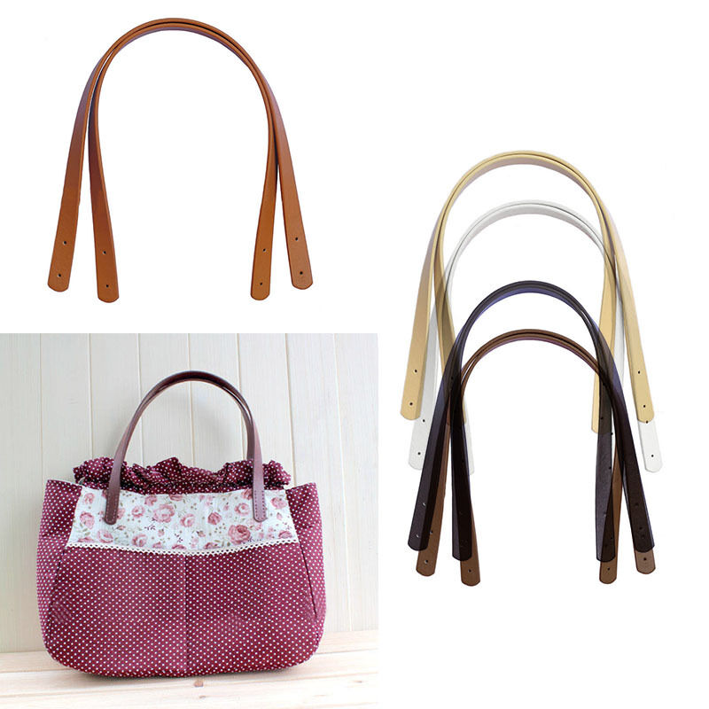 2pc Diy Handbag Purse Tote Bag Pu Leather Handle Strap
