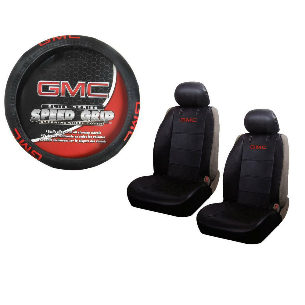 Brand New Gmc Elite Red Logo Universal Fit Seat Covers And