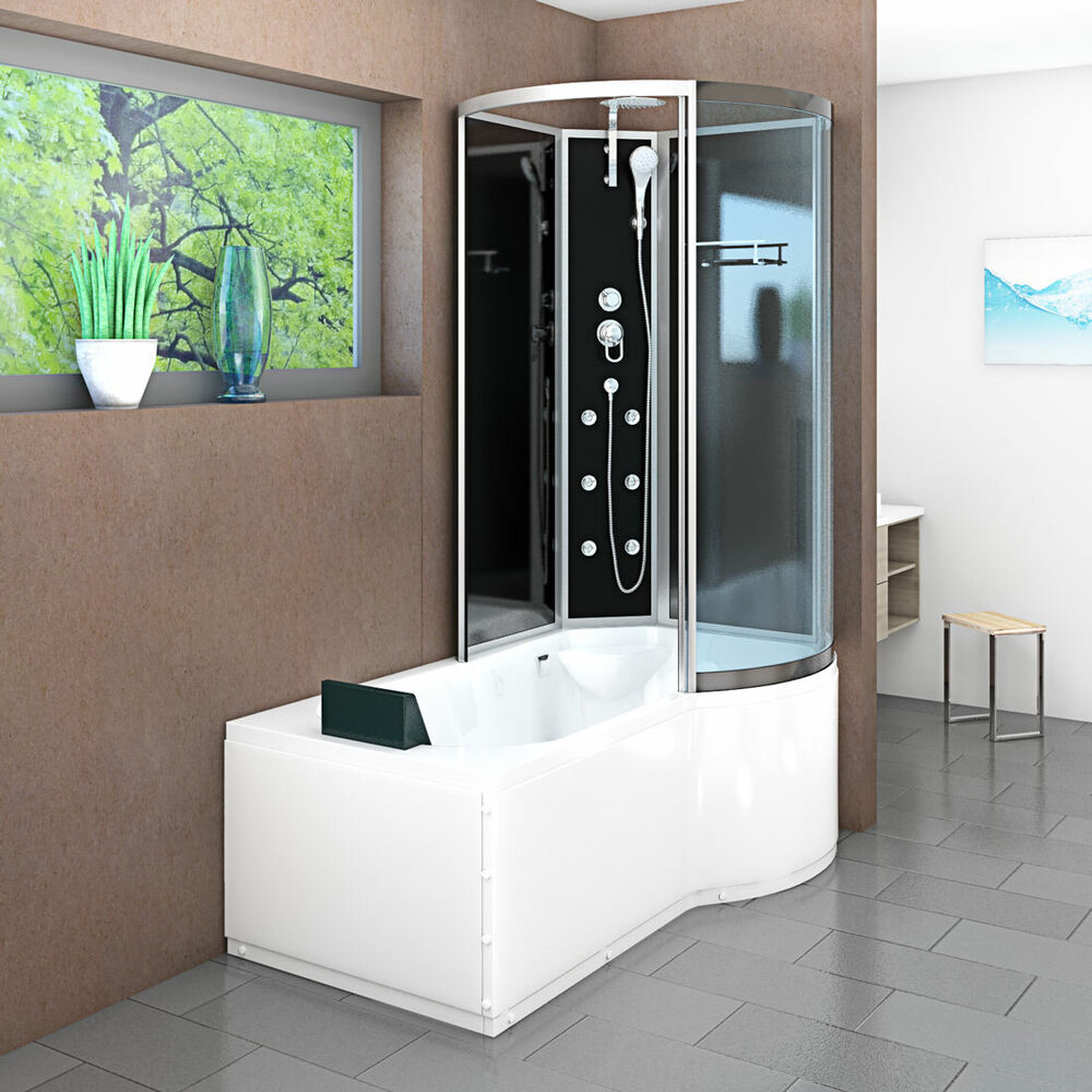 acquavapore dtp8050 a300l wanne duschtempel badewanne dusche duschkabine 170x98 ebay. Black Bedroom Furniture Sets. Home Design Ideas