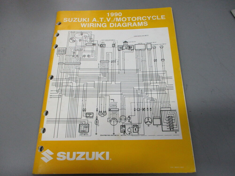 Suzuki Oem 1990 Atv Motorcycle Wiring Diagrams 99923