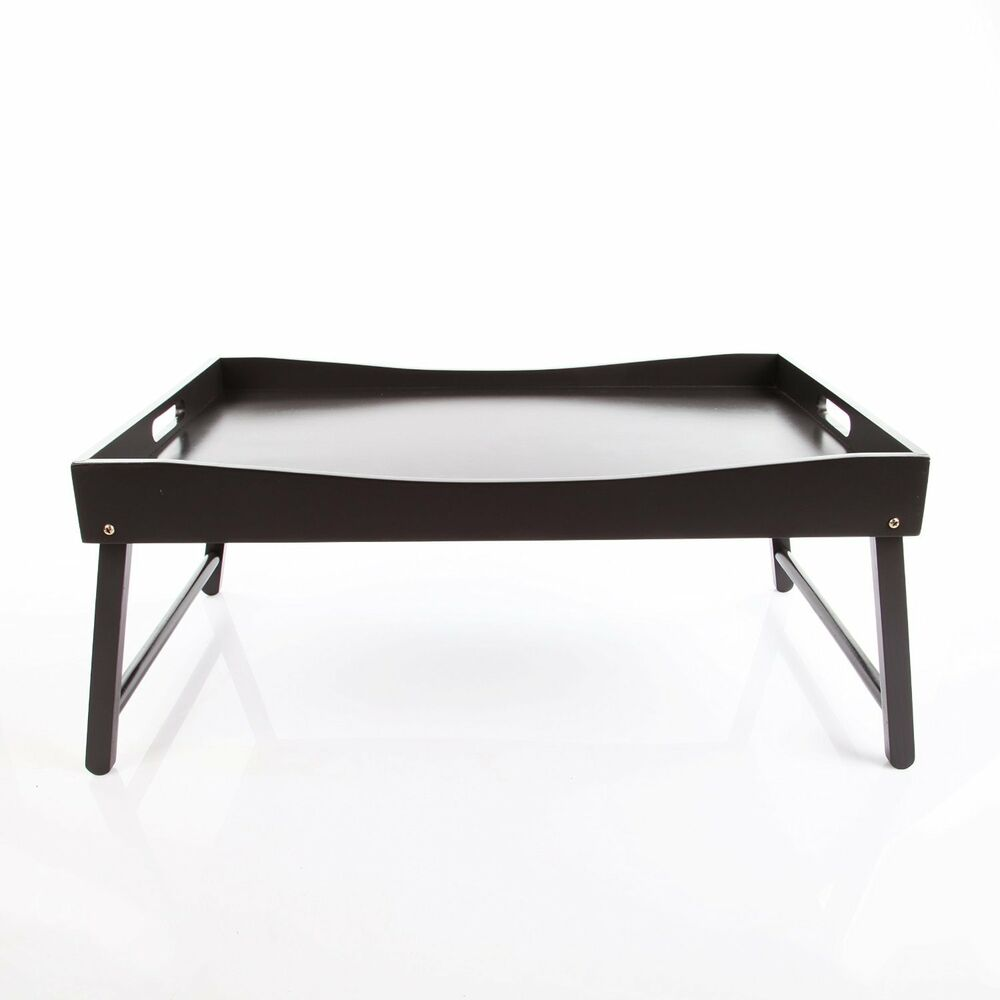 vecelo breakfast lap table bed tray serving tray with curved top foldable legs ebay. Black Bedroom Furniture Sets. Home Design Ideas