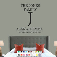Personalised Family Name Wall Art Quote Kitchen Bedroom Lounge Sticker Decal