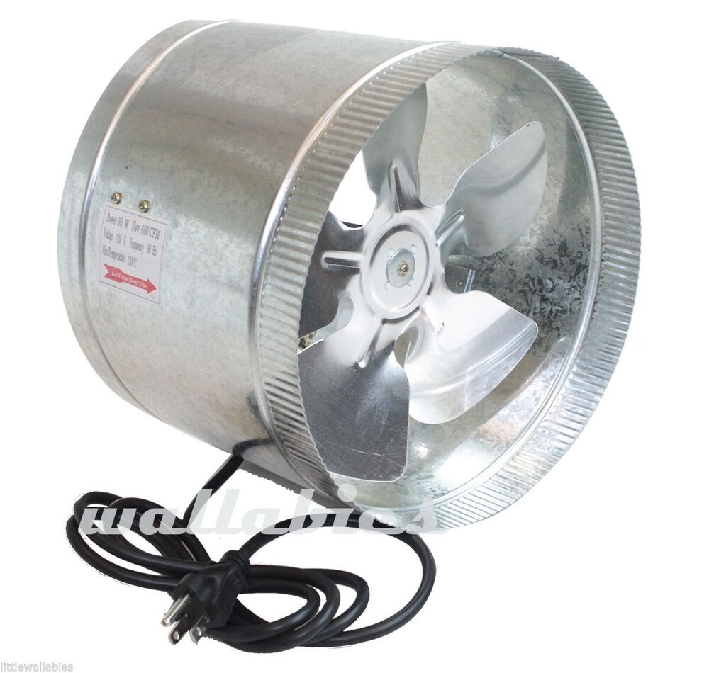 Duct Booster Fan : New quot duct fan cfm booster blower grow light inline