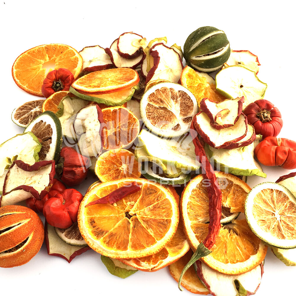 DRIED CHRISTMAS FRUIT SELECTION ORANGES LIMES