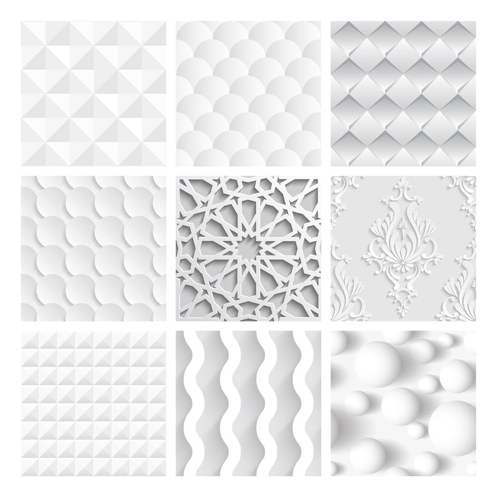 tile stickers transfers for kitchen bathroom custom size option white 3d effect ebay. Black Bedroom Furniture Sets. Home Design Ideas